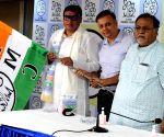 : Kolkata :BJP MLA from Raiganj Krishna Kalyani joined to All India Trinamool Congress Party in presence of State Minister and Party General Secretary Partha Chatterjee and Vivek Gupta President of Trinamool Hindi Cell,