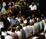 Karnataka Assembly Budget Session - BJP MLAs create ruckus