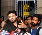 Babul Supriyo talks to the press