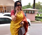 Hema Malini arrives at Parliament