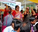Locket Chatterjee at West Bengal Para Teachers' protest