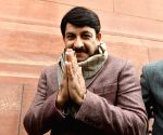 Budget Session - Manoj Tiwari at Parliament