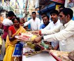 Ram Kripal Yadav distributes Puja material for Chhath celebrations