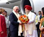 German President arrives in India