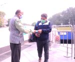 Vijay Goel distributes face masks amid surging Covid-19 cases and deaths in the national capital