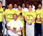 Vijay Goel with the members of NGO Lok Abhiyaan