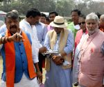 BJP National General Secretary, Kailash Vijayvargiya, National Vice-President Mukul Roy with other leaders inspect Brigade Parade Ground ahead of Prime Minister Narendra Modi's rally in Kolkata on Tuesday 02nd March, 2021.