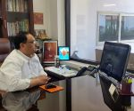 JP Nadda interacts with party office bearers via video conferencing