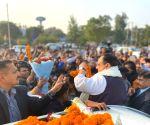 JP Nadda on his way to attend 'Geeta Jayanti Mahotsav' in Haryana