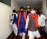 Observers Pradhan, Kishen Reddy hold meetings