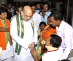 Amit Shah meets victims of Bengal's political violence