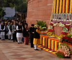BJP president Amit Shah pay tribute at the anniversary of 2001 Parliament Attack
