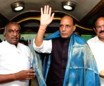 BJP President Rajnath Singh got a grand reception in Chennai