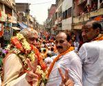 Buxar (Bihar): 2019 Lok Sabha elections - Ashwini Kumar Chaubey during a roadshow