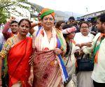 2019 Lok Sabha elections - BJP's Queen Ojha files nomination