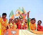 2019 Lok Sabha elections - BJP's Sambit Patra during a roadshow