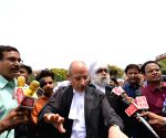 BJP spokesperson Nalin Kohli talks to the media after SC's verdict