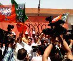 BJP supporters celebrate