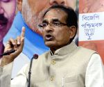 Shivraj Singh Chouhan talks to media