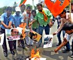 BJP's demonstration against Azam Khan