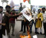 BJP demonstration against Arvind Kejriwal