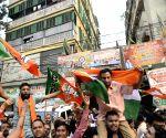 BJP celebrates after Parliament passes CAB