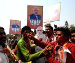 BJP workers celebrate ahead of PM Modi's swearing-in ceremony,