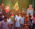 BJP workers celebrate ahead of PM Modi's swearing-in