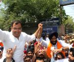BJP workers celebrate Sirsa's victory