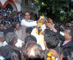 BJP workers felicitate Madhya Pradesh Chief Minister Shivraj Singh Chouhan