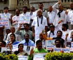 BJP protest against KJ George