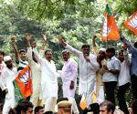 BJP's demonstration against Kejriwal