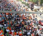 BJP takes out massive rally in support of striking RTC employees