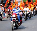 Kolkata: BJP bike rally on Ram Navami
