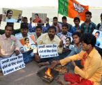 "BJP workers perform ""Yajna"" for Sushma Swaraj"