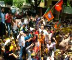 BJP workers' demonstration against Kejriwal