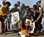 BJP demonstration against Digvijay Singh, Arvind Kejriwal and Owaisi