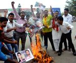 BJP's demonstration against RJD chief