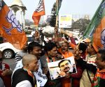 BJP demonstration against Shatrughan Sinha