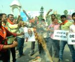 BJP demonstration against Nitish Kumar