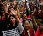 BJP workers's  demonstration