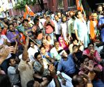 BJP demonstration against Kolkata Police