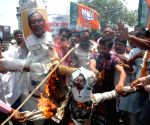 BJP demonstration against murder of journalist Rajdev Ranjan
