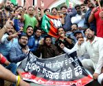 BJP's demonstration against drugs menace in the state