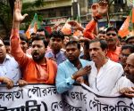 BJP workers demonstration against WB Govt.