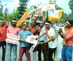 BJP's demonstration against Arvind Kejriwal