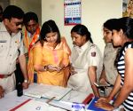 Poonam Mahajan during a BHIM App download program