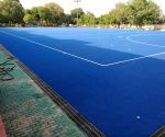 Blue turf at Dhyan Chand Stadium