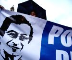 Gustavo Petro during a march