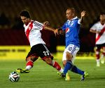 Millonarios v/s River Plate during a match in tribute to late former Argentine soccer player Alfredo Di Stefano